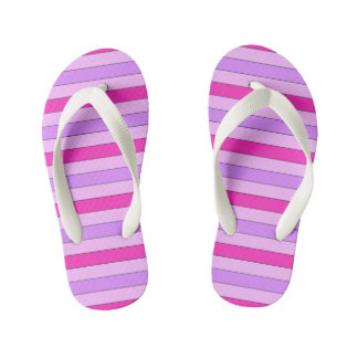Pink Striped Flip Flops