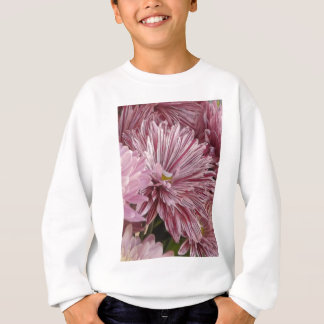Pink striped flower sweatshirt