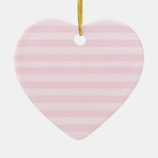 Pink Striped Pattern Ornament