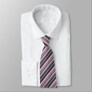 Pink Striped Pattern Tie