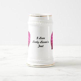 Pink Striped Socks Beer Stein