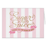 Pink Striped Sugar and Spice Thank You Cards