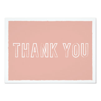 Pink Striped Thank You Cards