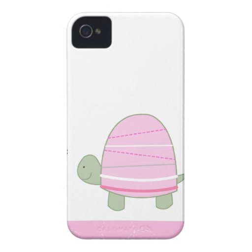 Pink Striped Turtle Blackberry Phone Case Blackberry Bold Case
