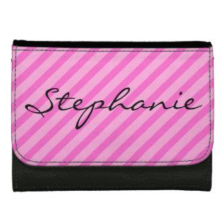 pink striped wallet