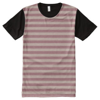 Pink Stripes All-Over Print T-Shirt