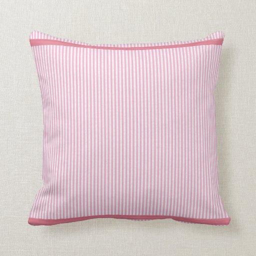 Pink Stripes American MoJo Pillows