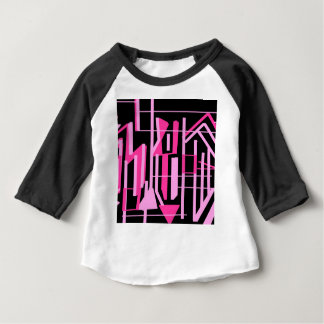 Pink stripes and lines design baby T-Shirt