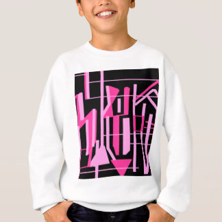 Pink stripes and lines design sweatshirt