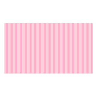 Pink Stripes Business Card Template