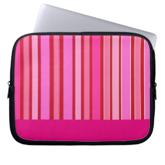 Pink Stripes Computer Sleeves