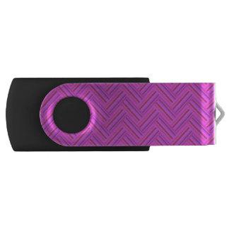 Pink stripes double weave pattern USB flash drive