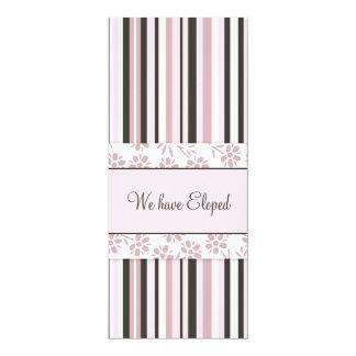 Pink Stripes Elopement Announcement Cards