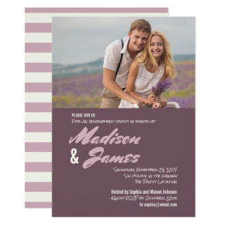 Pink Stripes | Engagement Party Invitations