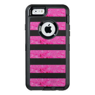 Pink Stripes OtterBox Apple iPhone Case