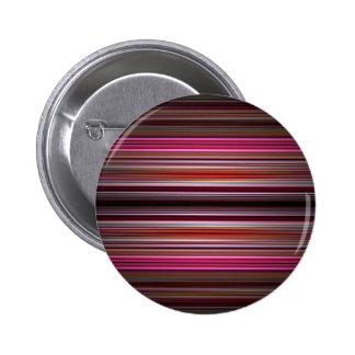 Pink stripes pattern 6 cm round badge