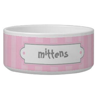 Pink Stripes Pattern Pet Bowls