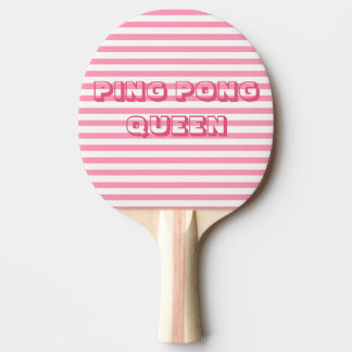 Pink Stripes | PING PONG QUEEN Ping Pong Paddle