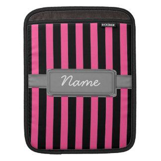Pink Stripes Rickshaw ipad and laptop sleeve iPad Sleeve