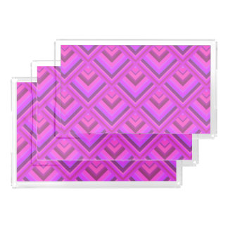 Pink stripes scale pattern acrylic tray