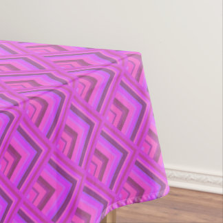 Pink stripes scale pattern tablecloth