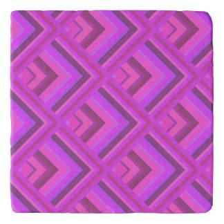 Pink stripes scale pattern trivets
