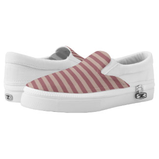 Pink Stripes Slip On Shoes