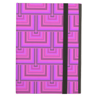Pink stripes square scales pattern cover for iPad air