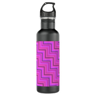 Pink stripes stairs pattern 710 ml water bottle