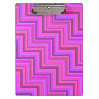 Pink stripes stairs pattern clipboards