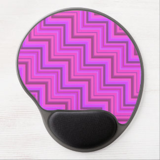 Pink stripes stairs pattern gel mouse pad