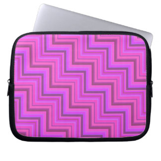 Pink stripes stairs pattern laptop sleeve