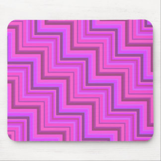 Pink stripes stairs pattern mouse pad