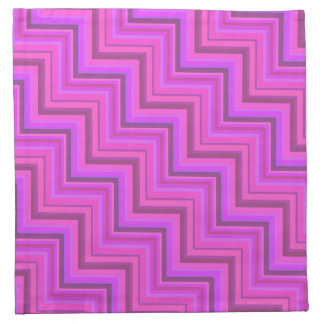 Pink stripes stairs pattern napkin
