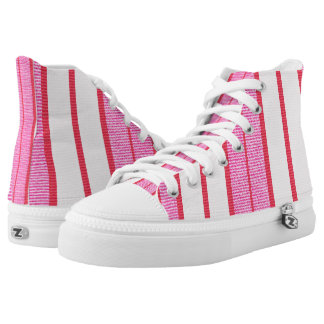 Pink Stripes Texture Pattern High Tops