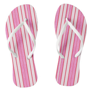 Pink Stripes Texture Pattern Thongs