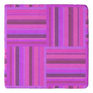 Pink stripes weave pattern trivets