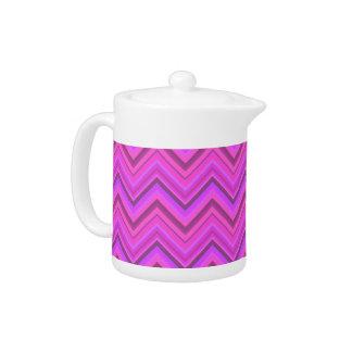 Pink stripes zigzag pattern