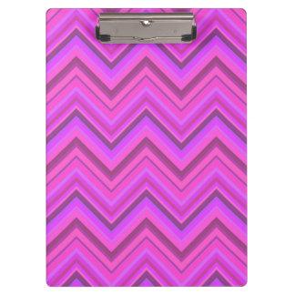 Pink stripes zigzag pattern clipboard