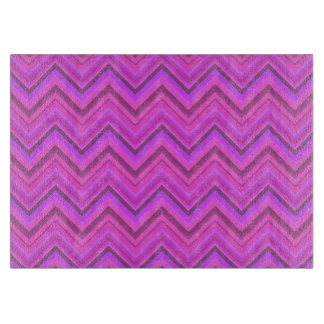 Pink stripes zigzag pattern cutting board