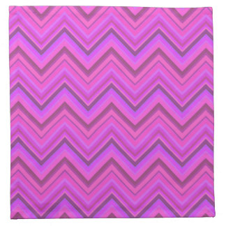 Pink stripes zigzag pattern napkin