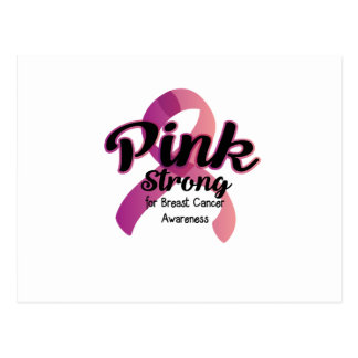 Pink Strong Breast Cancer Awareness Postcard