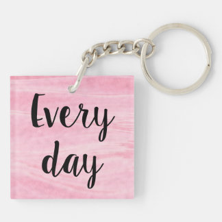 Pink Strong Fierce Brave Acrylic Key Chain