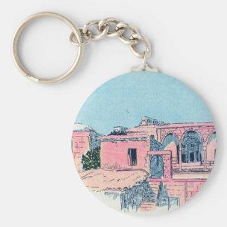 Pink Stucco Key Ring