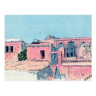 Pink Stucco Postcard
