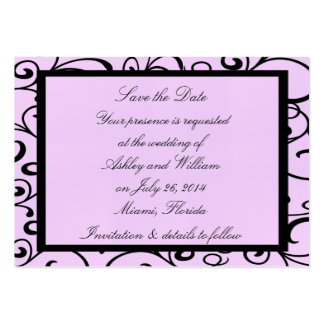 Pink Style Small Save The Date Wedding Cards Pack Of Chubby Business Cards