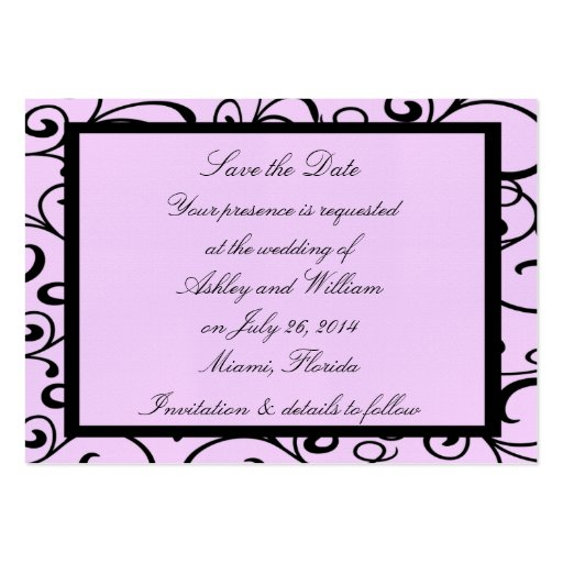 Pink Style Small Save The Date Wedding Cards Business Card Templates