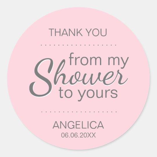 Pink Sugar Scrub Bridal Shower Favour Mason Jar Classic Round Sticker
