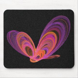 Pink Summer Butterflies Abstract Art Mouse Pad