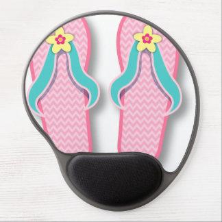 Pink Summer FlipFlops Gel Mouse Pad
